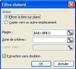 Dédoublonnage excel 97 2003